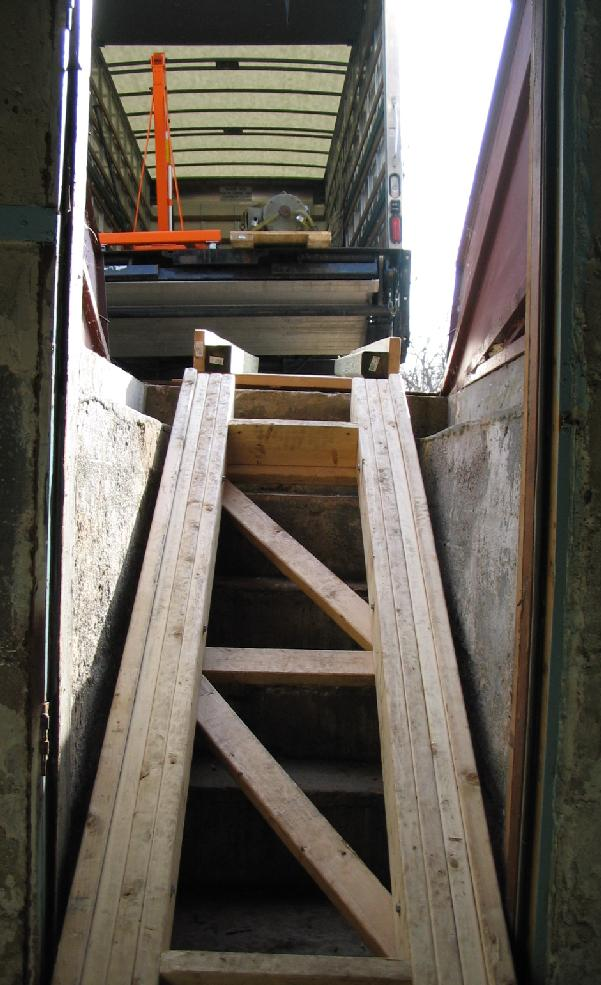 Stairway Design For Moving 1 Ton Lathe To Basement